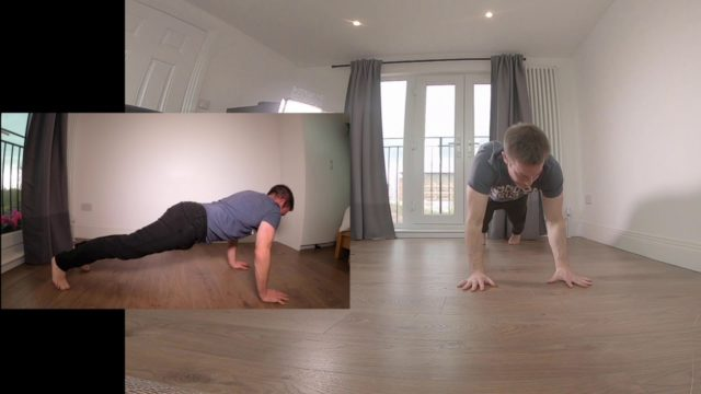 Conditioning – Pressup Shoulder touch – Mixed View – SlowMo